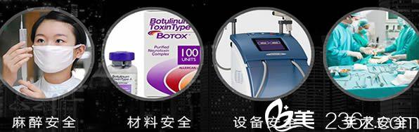 名韩均采用认证的仪器和材料保障手术安全