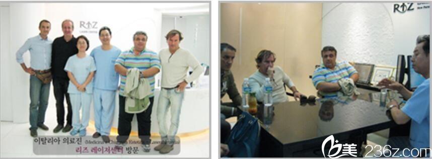 意大利医疗集团访问丽姿激光私密整形医院