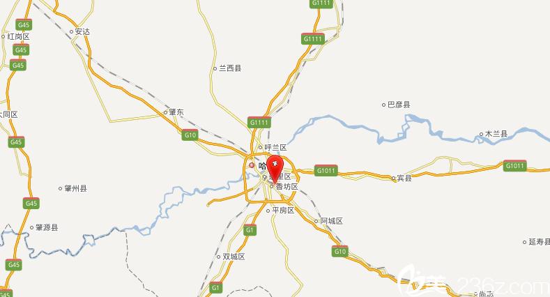 哈尔滨Dr.W王医生整形医院地理位置