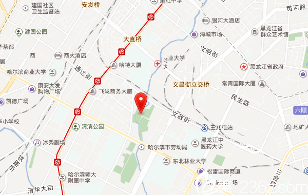 黑龙武警总队医院整形美容中心地理位置
