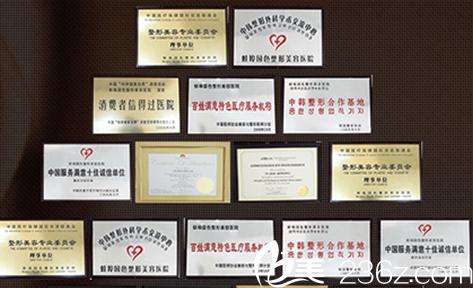 安徽蚌埠国色整形美容医院所获荣誉
