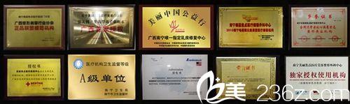 南宁美丽焦点荣誉证书