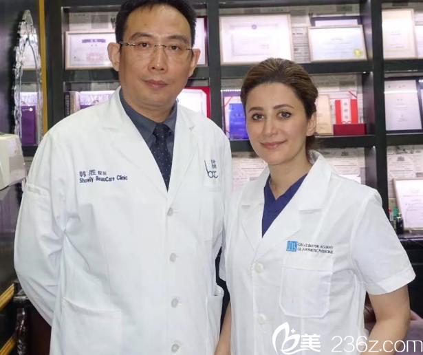 韩胜院长和Dr. Souphiyeh Samizadeh教授合照