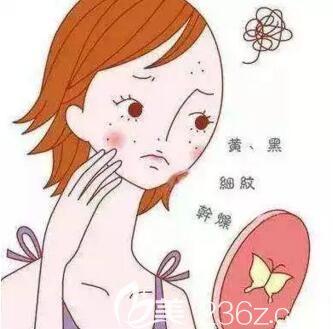 长期的生活中的各种压力导致皮肤出现各种色斑等肌肤问题