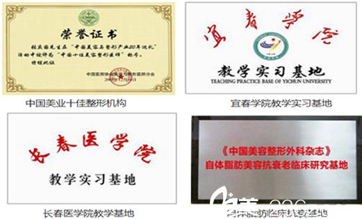 属于芜湖爱容整形美容医院的荣誉