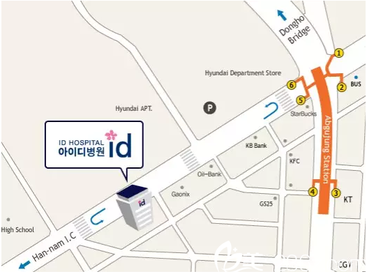 ID医院地理位置