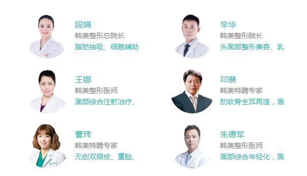 襄阳韩美整形医生团队