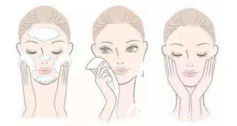 皮肤清洁的示意图