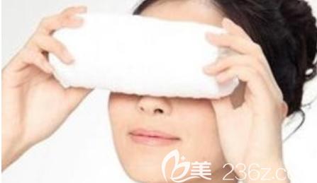 激光祛眼袋后注意眼周护理示意图