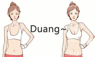 自体脂肪丰胸前后变化示意图