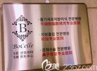 韩国宝士丽整形医院荣誉证书