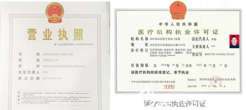 深圳美加美整形正规资质证书
