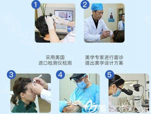 广州碧莲盛植发流程