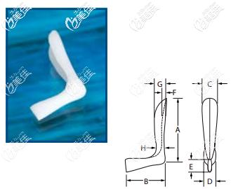 菲思挺 Anatomical Nasal Implant系列的所有型号的图形