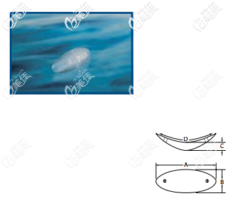 菲思挺硅胶下巴假体Curvilinear Silicone Chin系列的所有型号的图片