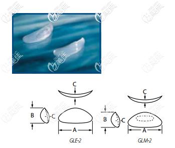 菲思挺硅胶下巴假体Glasgold Wafer™系列的所有型号的图片