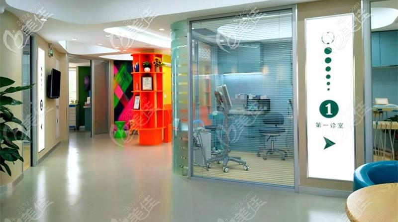 亚东口腔的诊疗室分布