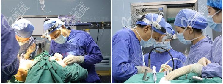 下颌角截骨+颧骨颧弓降低手术中