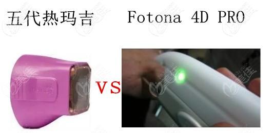 五代热玛吉和FOTONA 4D PRO治疗头不一样