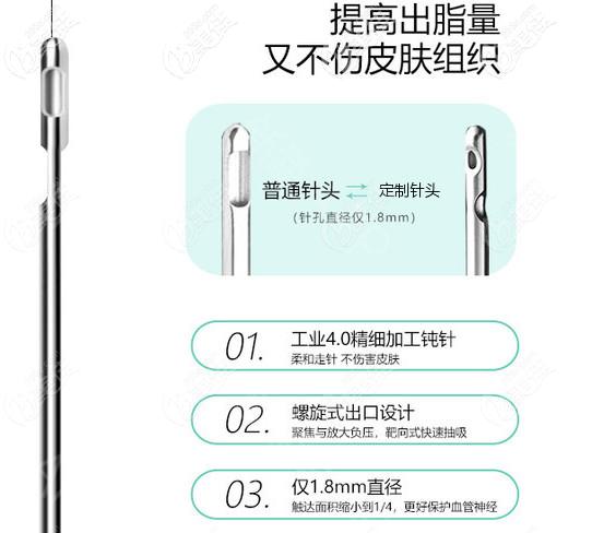 定制的1.8mm的吸脂针