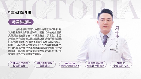 杭州维多利亚植发医生周祥伟