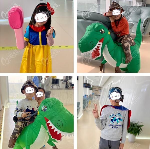 儿童cosplay服装展示